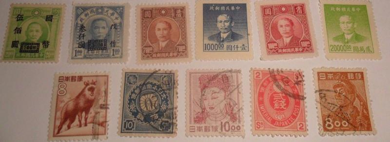 World Stamp lot -China & Japan