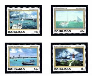 Bahamas 630-33 MNH 1987 Paintings of Lighthouses