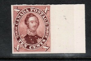 Canada #17TCi Very Fine Sheet Margin Proof India Paper On Card