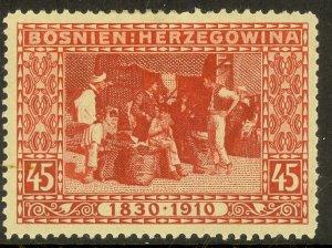 BOSNIA AND HERZEGOVINA 191 45h Bazaar Franz Joseph Birthday Jubilee Sc 57 MH