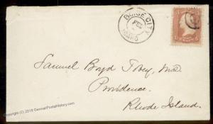 USA 1860s BOISE CITY Idaho Territorial to Providence Rhode Island Cover 88548