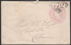 GB IRELAND 1845 small 1d envelope used DERRY to Colraine...................27759