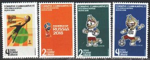 Turkey. 2018. 4439-42. FIFA World Cup in Russia. MNH.
