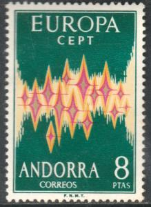 ANDORRA (SPANISH) 62, EUROPA, 1972. FOXING SPOT ON REVERSE. MNH. F-VF. (147)