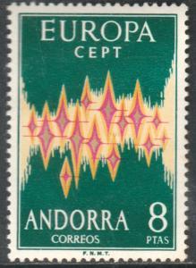 ANDORRA (SPANISH) 62, EUROPA, 1972. MINT, NH. VF. (147)