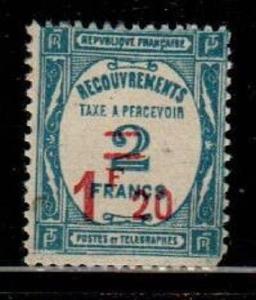 France Scott J66 Mint hinged (Catalog Value $42.50)