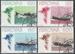 Faroe Is #24-7 F-VF Used CV $5.00 (V2463)
