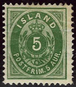 Wonderful Iceland #16 Mint OG F-VF SCV$75...fill a fascinating spot!!