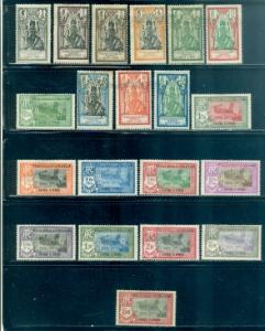 French India #80-99 Mint  Scott $19.35   9 Stamps Have Thins
