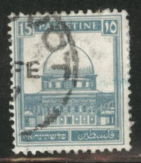 Palestine Scott 76 used dome of the rock from 1927-1942 set