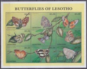 1997 Lesotho 1219-1227KL Butterflies 7,50 €