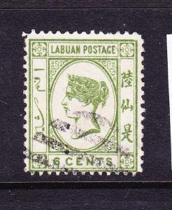 LABUAN  1892-93  6c  QV  FU    SG 40