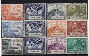 1949 UPU 3 x mint sets Barbados, Basutoland & Bermuda WS22181
