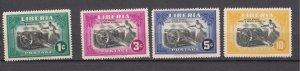 J27506 1947 liberia set mh #301-4 cannons