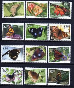 Tonga Niuafo'ou Scott 275-86 Butterflies!  MNH!