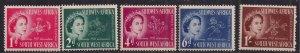 South West Africa 1953 QE2 Set Coronation Umm SG 149 - 153 ( L1482 )