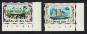 Norfolk 'Resolution' schooner 2v Bottom Right Corners SG#170-171 SC#192-193