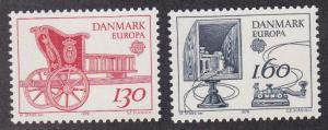 Denmark # 651-652, Europa, Mail Cart, Morse Key, NH, 1/2 Cat,