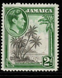 JAMAICA SG124 1938 2d GREY & GREEN MTD MINT