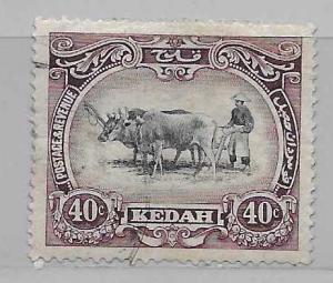 Malaya - Kedah 15 Native Plowing single Used