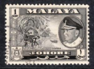 Malaya Johore 1960 Sc 158 1c Used