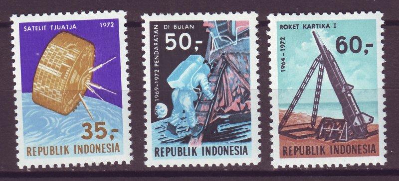 J25021 JLstamps 1972 indonesia set mnh #819-21 space
