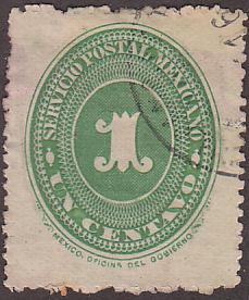 Mexico 212 Hinged 1890 Numeral Issue