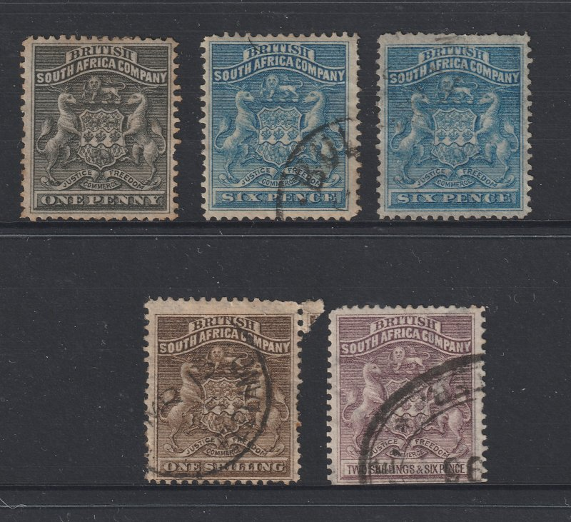 Rhodesia x 5 old ones