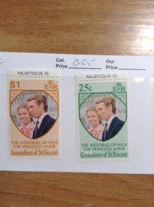 St Vincent grenadines (Mustique Island)  #  1-2  MNH