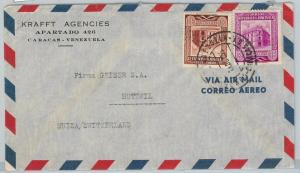 58722  -  VENEZUELA  - POSTAL HISTORY: COVER to SWITZERLAND 1955