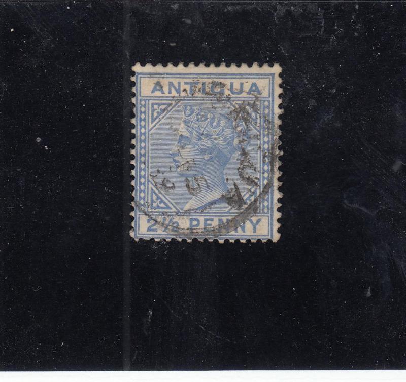 ANTIGUA  # 14  VF-USED  2 1/2p 1886 QUEEN VICTORIA / ULTRA CAT VALUE $17