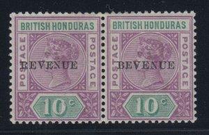 British Honduras, SG 67a (Sc 49a), MLH pair Bevenue variety