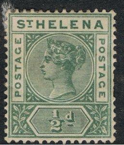 St HELENA 1890 - 97 1/2d GREEN QUEEN VICTORIA