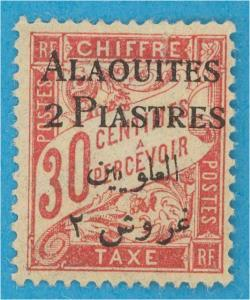 FRENCH MANDATE - ALAOUITES J3 POST DUE  MINT HINGED OG *  NO FAULTS EXTRA FINE !