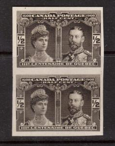 Canada #96a XF Mint Imperforate Pair