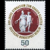 GERMANY-BERLIN 1974 - Scott# 9N348 School Seal Set of 1 NH