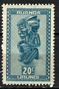 Ruanda Urundi 1948; Sc. # 92; **/MNH Single Stamp