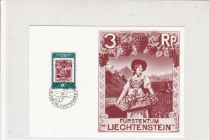 Liechtenstein 1980 Celebrating 50 Years Post Museum Special Stamp Card Ref 29907