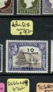 ADEN  (P1608B)  KGVI 10/0/10R BOAT  SG 46    MOG