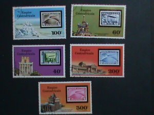 CENTRAL AFRICA STAMP 1977- SC#295-6,C184-6-75TH ANNIVERSARY-ZEPPELIN CTO SET-