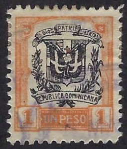 DOMINICAN REPUBLIC 237 USED BIN $12.50 BIN $5.00 COAT OF ARMS