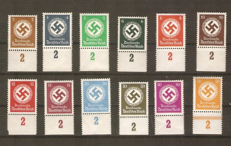 Germany 1934 official stamps cpl MNH