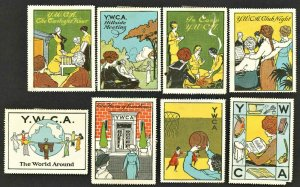 1910s YWCA  ( US Poster Stamp ) Lot Of 8