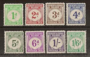 Gilbert & Ellice Islands 1940 Postage Dues Set Cat£180
