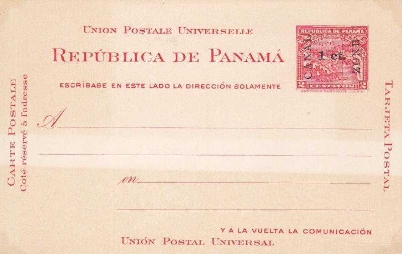 Canal Zone, Postal Card, Mint, Sc #UX1 (836)