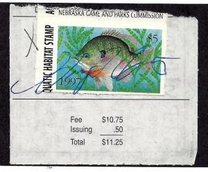 NEAH1 Used... SCV $3.50... Nebraska Fishing License