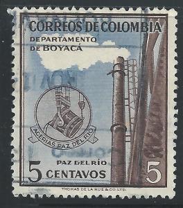 Colombia #647 5c Steel Mill