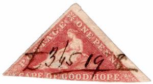(I.B) Cape of Good Hope Revenue : Stamp Duty 1d