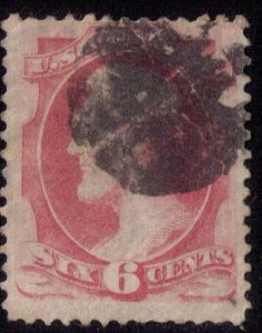 US Sc 186 Used Pink Lincoln F-VF