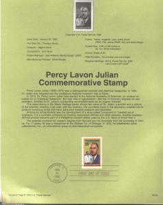 USA 2746 PERCY LAVON JULIAN SOUVENIR PAGE